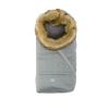 Nuvita Ovetto Pop bundazsák szőrmével 80cm - Pinstripe Gray / Beige - 9236
