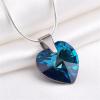 Nyaklánc, Crystals from SWAROVSKI® kristályos szív alakú medállal, Bahama kék