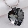 Nyaklánc, Crystals from SWAROVSKI® kristályos szív alakú medállal, black diamond
