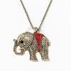 Nyaklánc  piros köves elefánt medállal jwr-1107