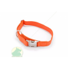 Nylon nyakörv 25 x 650 állítható nyakörv fém csattal narancs