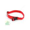 Nylon nyakörv 25 x 650 állítható nyakörv műanyag csattal piros