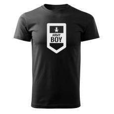 O&T rövid póló army boy, fekete 160g/m2