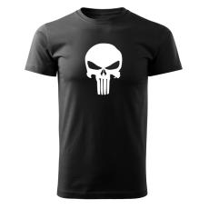 O&T rövid póló punisher, fekete 160g/m2