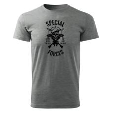 O&T rövid póló special forces, szürke 160g/m2