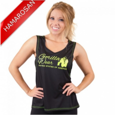 ODESSA CROSS BACK TANK TOP - BLACK/NEON LIME (BLACK/NEON LIME) [S]