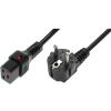 OEM 230V IEC Tápkábel Fekete 2m IEC-EL262S