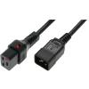 OEM IEC Tápkábel Fekete 2m IEC-PC1285