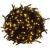 OEM Karácsonyi LED világítás 10 m - meleg fehér 100 LED - zöld kábel