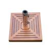 OEM Napernyőtalp (négyszögletű) - gránit/rozsdamentes acél, faburkolattal, 25 kg