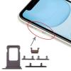 OEM Sim kártya tartó és oldalgomb garnitúra Iphone 11, fekete