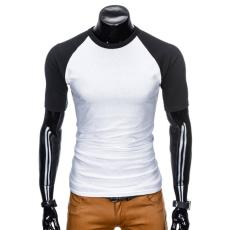 Ombre Póló S877 fehér-fekete