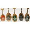 Ón matricás ovális fa kulcstartó ón Kossuth címer matricával