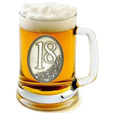 Óncímkés sörös korsó 18, 20 éves  (1.) sörös pohár