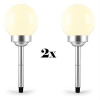 oneConcept 2 x oneConcept LED-Flower, 30 cm átmérő, 4 LED, kerti lámpa