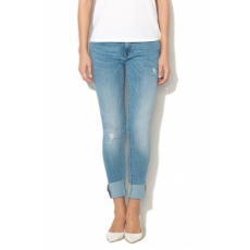 Only , Carmen Skinny fit farmernadrág, Mosott hatású kék, W30-L32 (15147207-LIGHT-BLUE-DENIM-W30-L32)