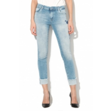 Only , Carmen Skinny Fit hímzett farmernadrág, Világoskék, W28-L30 (15152137-LIGHT-BLUE-DENIM-W28-L30)