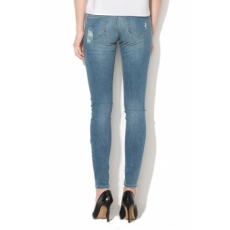 Only , Carmen skinny fit szaggatott farmernadrág, Világoskék, W31-L32 (15153068-MEDIUM-BLUE-DENIM-W31-L32)