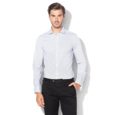 Only & sons , Alfredo mintás extra slim fit ing, Fehér / Fekete, M (22010504-WHITE-M)