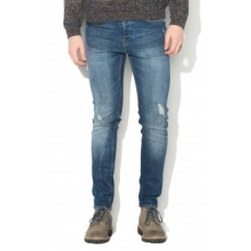 Only & sons , Loom mosott hatású slim fit farmernadrág, kék, W28-L34 (22008368-MEDIUM-BLUE-DENIM-W28-L34)