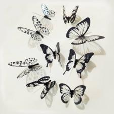 Öntapadós 3D pillangó fali dekoráció dekoráció