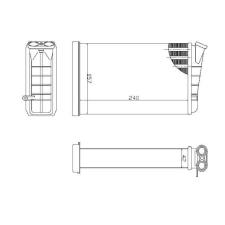 Opel Omega B 1993.09.01-1999.08.31 Fűtőradiátor (0L63) fűtőradiátor
