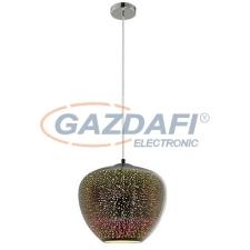 Optonica PD9023 3D üveg függesztett csillár,tűzijáték hatás,króm- 40W E27 290x250mm világítás
