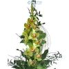 Orchidea fürt zöldekkel díszítve (zöld)