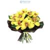 Orchidea körcsokor (sárga)