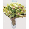 Orchidea körcsokor (zöld)