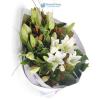 Oriental liliom virágcsokor (fehér)