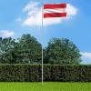 Osztrák zászló alumíniumrúddal 6 m