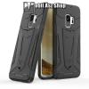 OTT! MOBILE OTT! DEFENDER PRO mûanyag védõ tok / hátlap - FEKETE - szilikon betétes, kitámasztható, ERÕS VÉDELEM! - SAMSUNG SM-G960 Galaxy S9