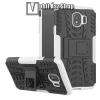OTT! MOBILE OTT! VROOM műanyag védő tok / hátlap - FEHÉR - AUTÓGUMI MINTÁS - szilikon betétes, asztali tartó funkciós, ERŐS VÉDELEM! - SAMSUNG SM-J400F Galaxy J4 (2018)