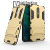 OTT! MOBILE TRANSFORM műanyag védő tok / hátlap - ARANY - szilikon betétes, kitámasztható - ERŐS VÉDELEM! - NOKIA 5.1 Plus