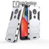 OTT! MOBILE TRANSFORM műanyag védő tok / hátlap - EZÜST - szilikon betétes, kitámasztható - ERŐS VÉDELEM! - MOTOROLA Moto E5 (2018) / MOTOROLA Moto G6 Play (2018)