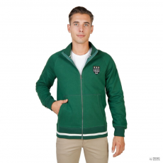 Oxford University férfi pulóver MAGDALEN-teljesZIP-zöld