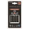 """Panasonic Elemtöltő, AA ceruza, 4x2500 mAh AA, gyorstöltő, PANASONIC """"Eneloop PRO"""""""