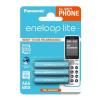 """Panasonic Tölthető elem, AAA mikro, 3x550 mAh, előtöltött, PANASONIC """" EneloopLite"""""""