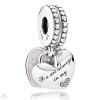 Pandora Anya & lánya szívek függő charm - 792072EN40