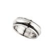 """""""Panta"""" forgó betétes, ezüst színű, unisex ezüst gyűrű (unisex változat)"""
