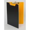 PANTA PLAST Felírótábla, fedeles, A4, fekete-sárga
