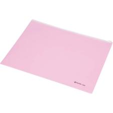 PANTA PLAST Irattartó tasak, A4, PP, cipzáras, PANTA PLAST, pasztell rózsaszín tasak