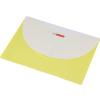 PANTA PLAST Irattartó tasak, DL, PP, patentos, két zsebes, PANTA PLAST, pasztell sárga