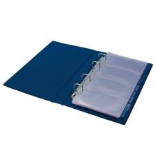 PANTA PLAST Névjegytartó, 200 db-os, gyűrűs, PANTAPLAST, kék hegesztés