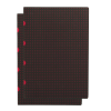 PAPER-OH Cahier Circulo Black on Red / Black on Red A4 üres