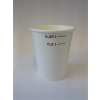 Papír pohár, 2 dl, fehér