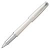"""Parker Rollertoll, 0,5 mm, ezüst színű klip, gyöngyházfehér tolltest, PARKER """"Urban Premium"""", fekete"""