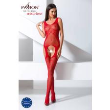 Passion BS061 - csavart-mintás, virágos necc szett (piros) - S-L body