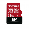 Patriot EP Series 64GB MICRO SDXC V30; up to 100MB/s